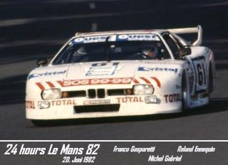 BMW M1 1982 in Le Mans