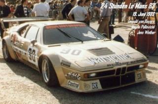 BMW M1 1983 in Le Mans