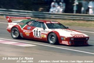 BMW M1 1984 in Le Mans