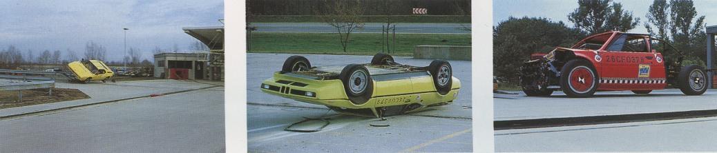 BMW Classic Archiv: Crash-Test TÜV Bayern am 17.07.1978. Bild li. u. mitte ist Chassis-Endnummer 007, Bild re. ist Chassis-Endnummer 010.