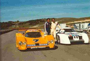 Laguna Seca, l.Brian Redman mit Lola T600 Chevrolet und David Hobbs mit March BMW M1/C 81P-01 am 03.05.1981