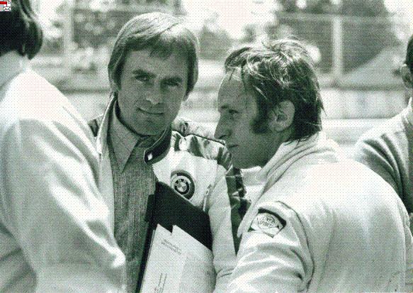 Jochen Neerpasch mit Chris Amon. Chris war damals einer der jüngsten und talentiertesten F1 Fahrer