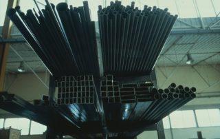 BMW M1 - Produktion, alle Rohr- u. Kastenprofile die für den M1 Gitterrohrrahmen erforderlich waren