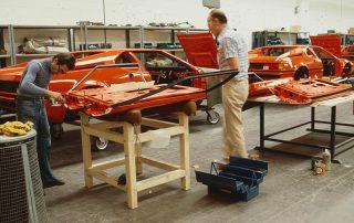 BMW M1 - Produktion, Vormontage und Komplettierung der Türen