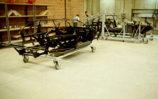 BMW M1 - Produktion, Gitterrohr-Rahmen-Fertigung
