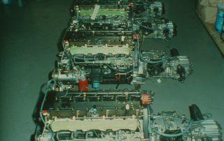 BMW M1 - Produktion, Antriebsstrang: 6-Zyl. Reihenmotor mit angeflanschtem Schaltgetriebe ( 5-Gang ZF ) mit integriertem Hinterachsgetriebe