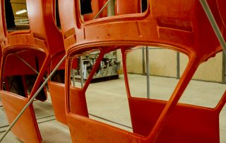 BMW M1 - Produktion, GFK-Karosserie-Segment mit Vorbau und Dach
