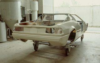 BMW M1 - Produktion, Lackierdurchlauf bei Ital Design