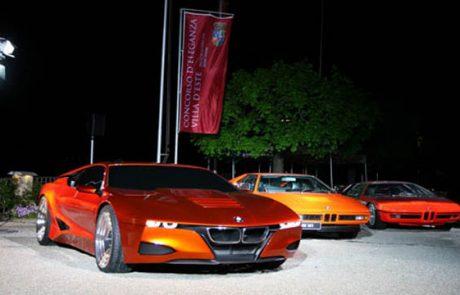 Designstudie des BMW M1 auf dem Concorso d'Eleganza Villa d'Este 2008