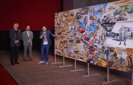 The first piece it titled the Blue Hero Project and honors Mr Neerpasch and the history of BMW Motorsports
